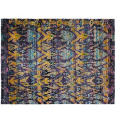 Indian Sari Silk Rug