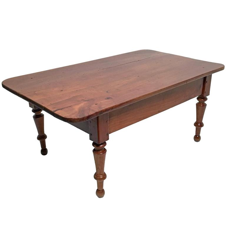 Early English Country Cherrywood Coffee Table At 1stdibs