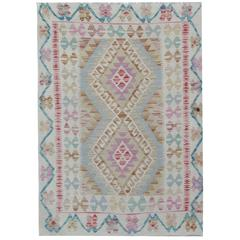 Kilim Rugs with Traditional Design, Carpet from Afghanistan
