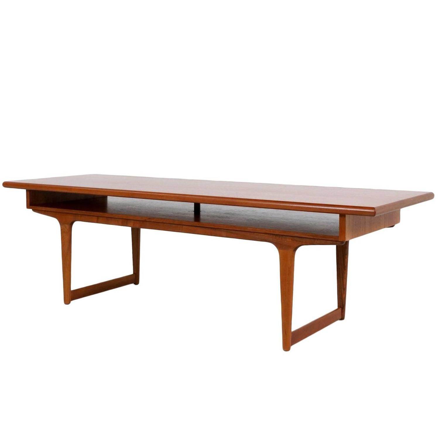 Scandinavian Teak Coffee Table: Large Danish Modern Teak Coffee Table, 1960s For Sale At
