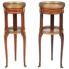 Near Pair of Empire Influenced Side Tables, 19th Century