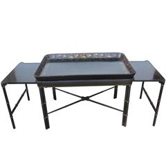 Black Jean Dunand Style French Tray Table Cocktail