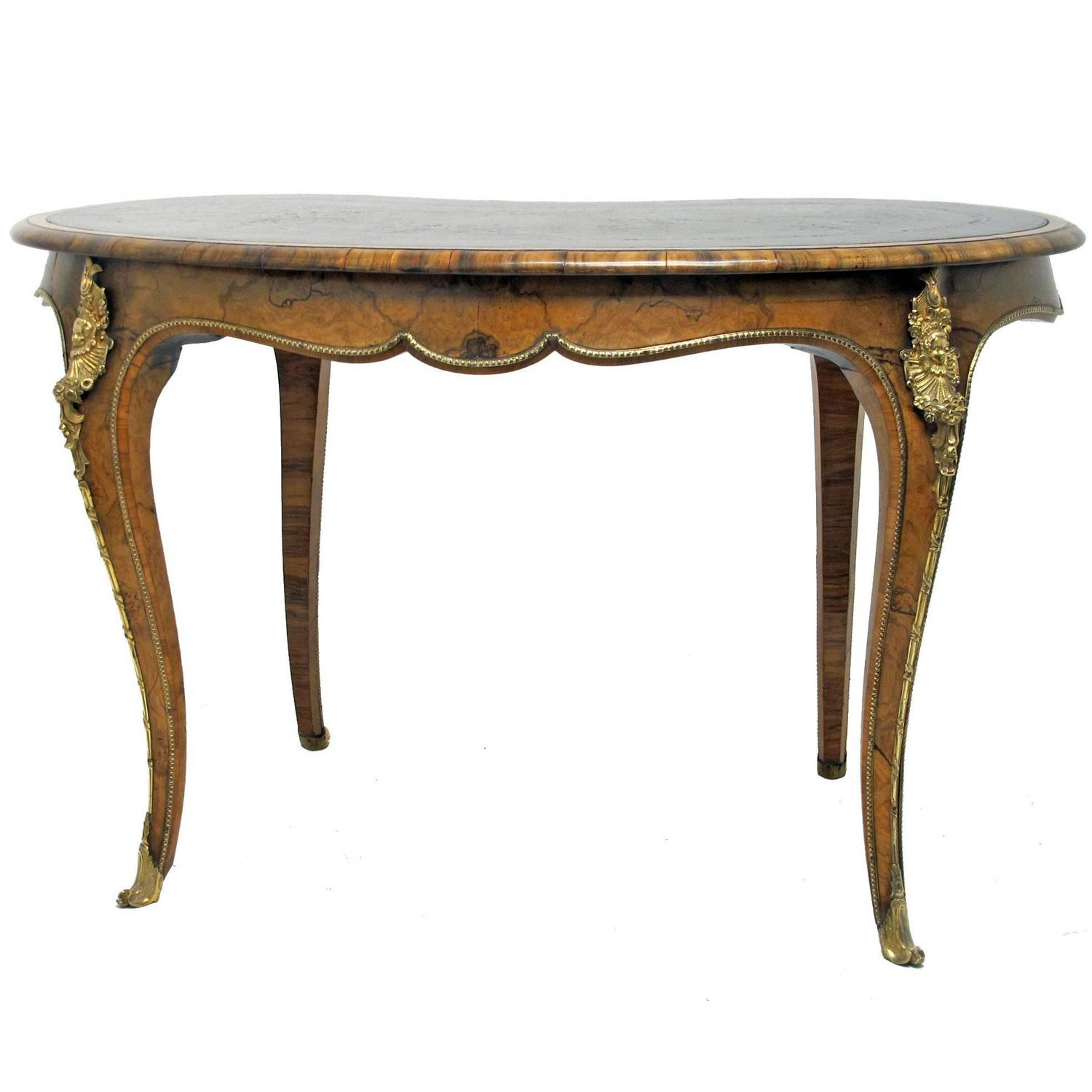 19th century french kidney shaped desk for sale at 1stdibs for Kidney desk for sale