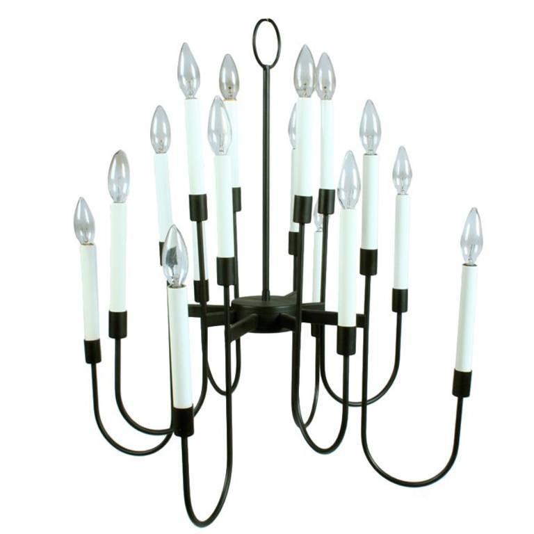 Lightolier Black Enamel Sixteen-Light Mid-Century Light Fixture
