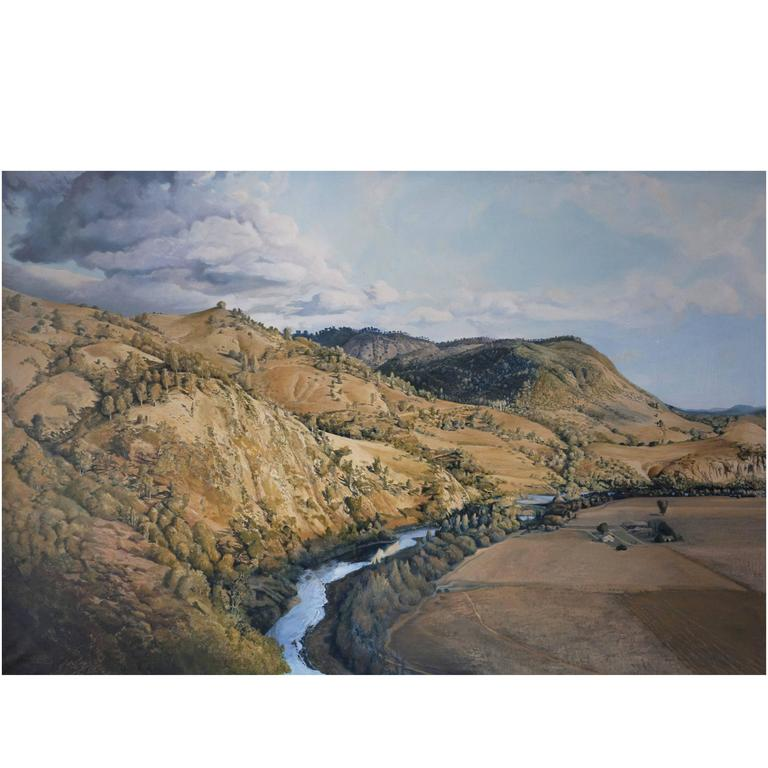 Latin American Landscape Painting by Luis Vargas, 1982 For Sale