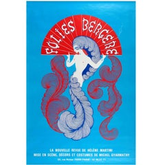 Original Folies Bergere Cabaret Poster by Erte for The New Revue Helene Martini