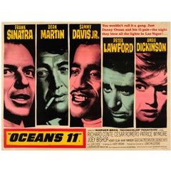 Original Vintage Classic Movie Poster for Ocean's 11, Sinatra and the Rat Pack
