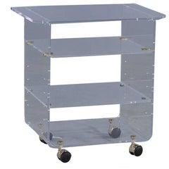 Chic Lucite Storage Cart