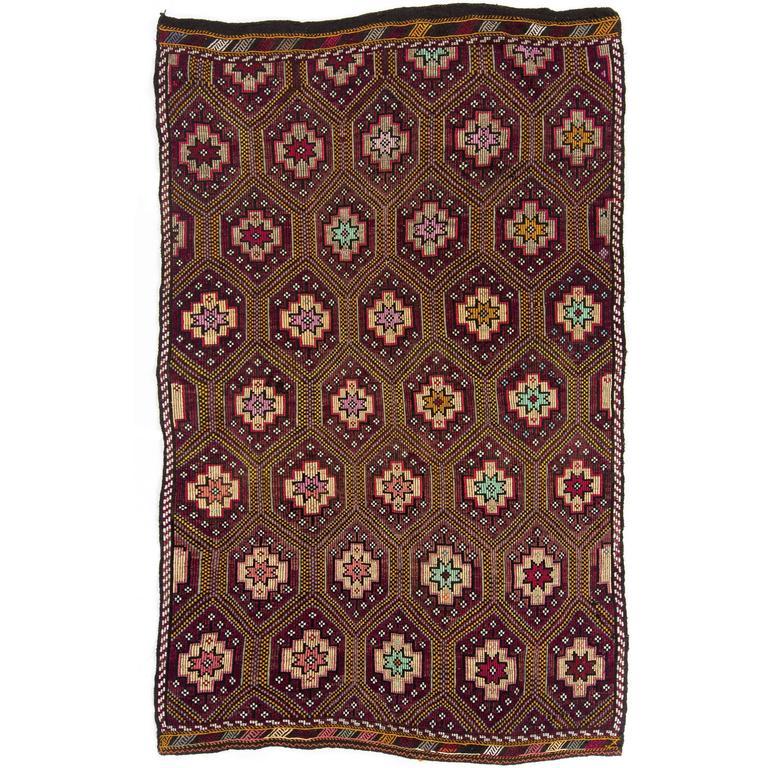 Vintage Nomadic Anatolian Kilim