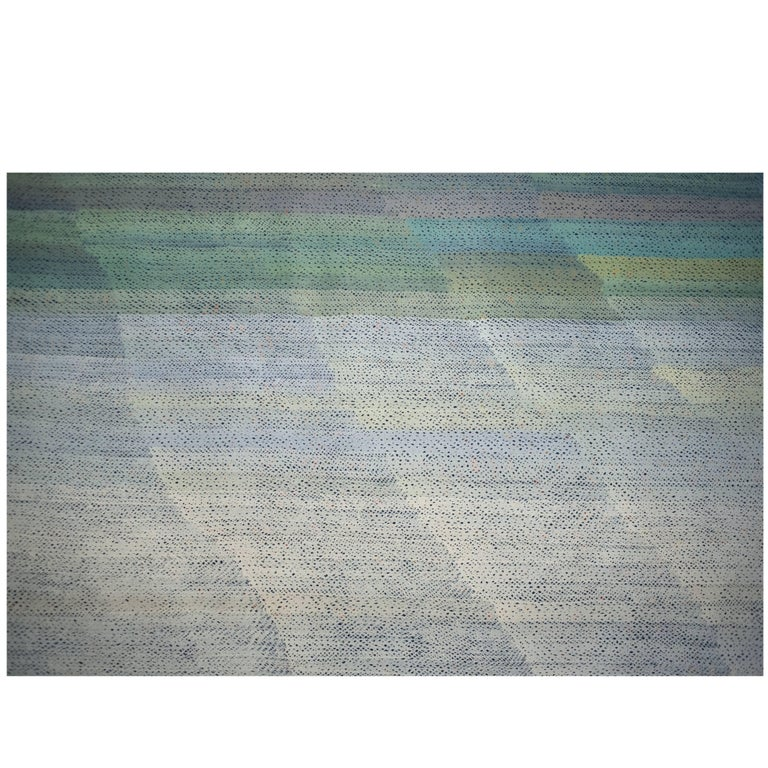 Monumental Christian Gardair Color Field Painting French, 1983 For Sale