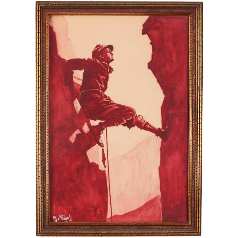 """""""The Mountaineer"""" Watercolor Painting"""