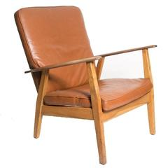 Leather Cigar Chair Attributed to Hans J. Wegner