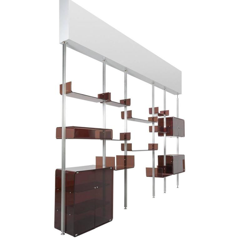 Michel Ducaroy Modular Wall Unit in Acrylic and Aluminum for Roche Bobois  1