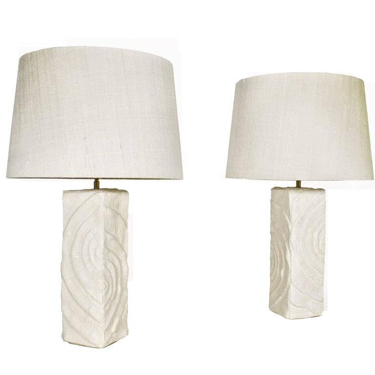 Pair of Plaster Lamps, circa 2000, France