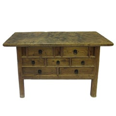 19th Chest of Drawers Rustic Console Table