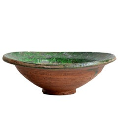 Green Patterned Ceramic Bowl