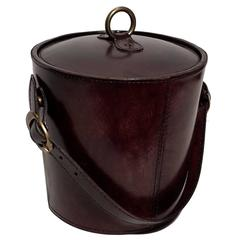Contemporary Leather Wine Cooler