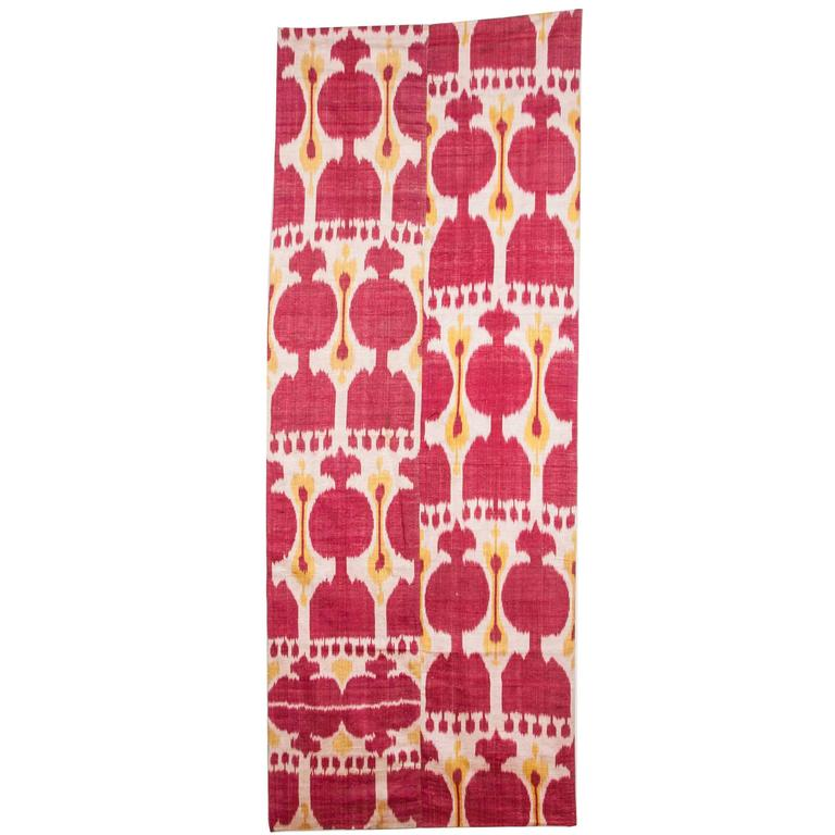 Late 19th Century Central Asian Uzbek Ikat Hanging For Sale