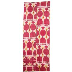 Late 19th Century Central Asian Uzbek Ikat Hanging