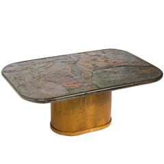 Marcus and Paul Kingma, Signed Coffe Table, The Netherlands, Early 1970s