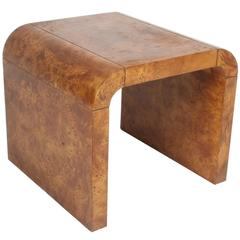 Pair of Milo Baughman Style Burl Wood End Tables, Mid-Century