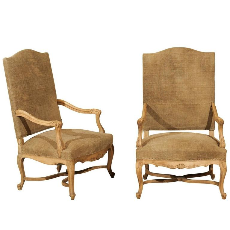 Pair of 19th Century, Regence Style Armchairs