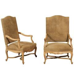 Pair of 19th Century, Regence Style Armchairs
