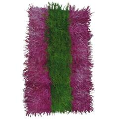 "Angora ""Tulu"" in Emerald and Fuchsia Rug"