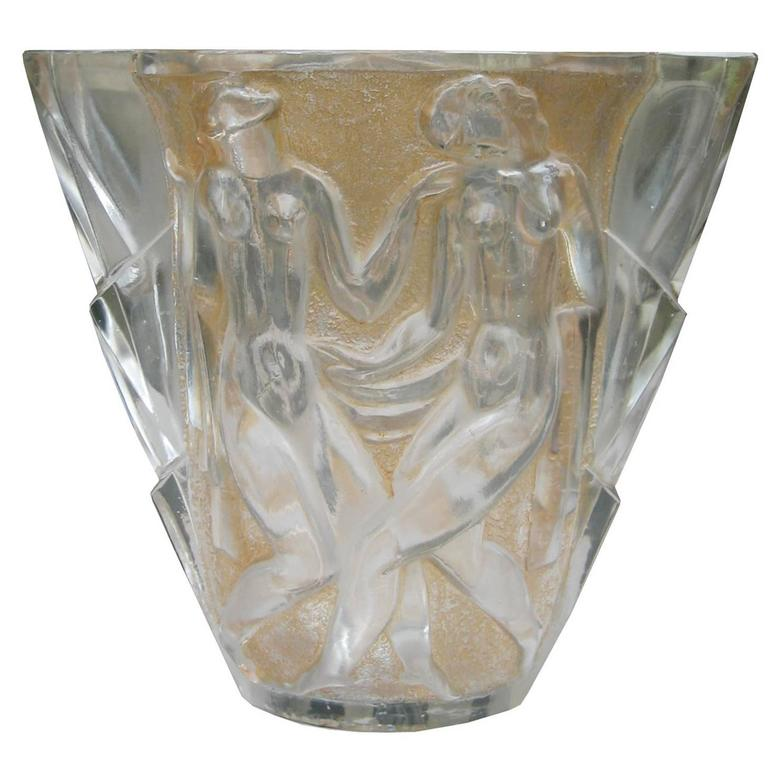Art Deco Glass Vase