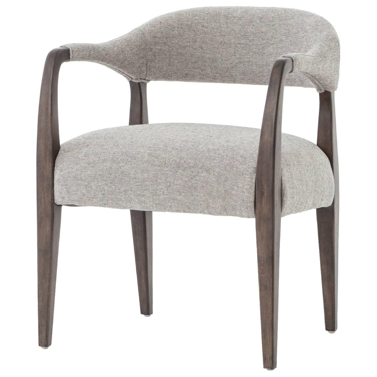 Upholstered dining chairs with arms for sale at 1stdibs for Upholstered arm dining chairs