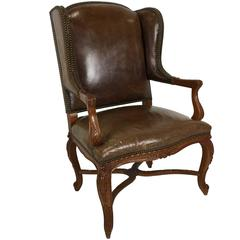 Ralph Lauren Spencer Leather Wing Chair