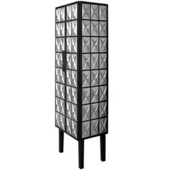 Silver Palladium Wood Cabinet by Christophe Côme