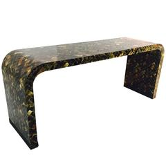 Tessellated Horn Console Table