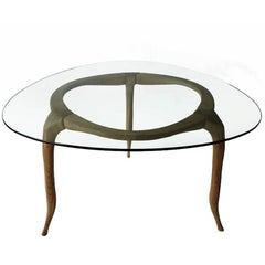 Domo - contemporary table in English oak, designed by Nigel Coates