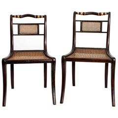 Federal Style, Cane-Seat Side Chairs