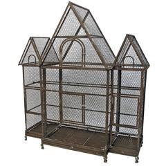 Large Architectural Antique Birdcage