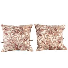 Decorative Pillows in Antique French Verdure Fabric