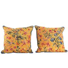 Decorative Pillows in Vintage English Fabric