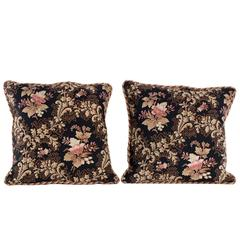 Decorative Pillow in Antique French Fabric