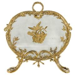 Antique French Louis XV Bronze Fire Screen from Paris.