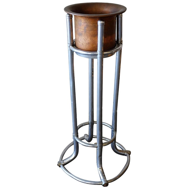 Original Ambassador Hotel Ice Bucket With Stand At 1stdibs