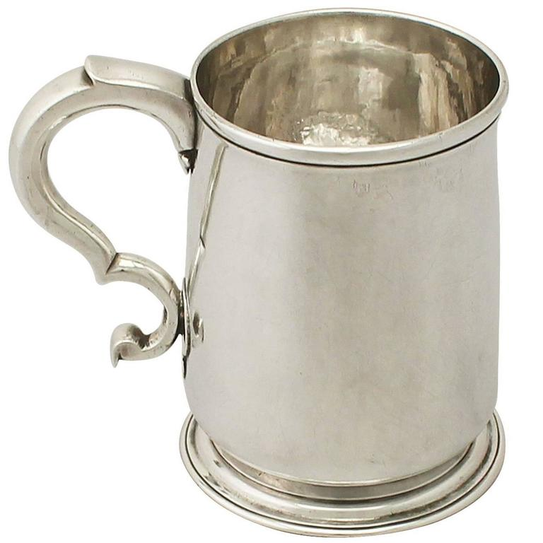 Antique Sterling Silver Pint Mug by Paul de Lamerie, George II