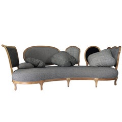 Back to Back - modern walnut sofa, designed by Nigel Coates