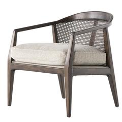 Rattan and Wood Armchair