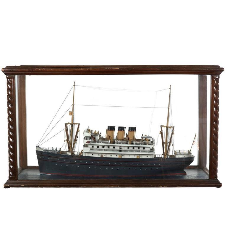 Cased Wooden Model of the Neptune