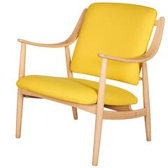 Mid Century Yellow Arm Chair by Torbjorn Afdal