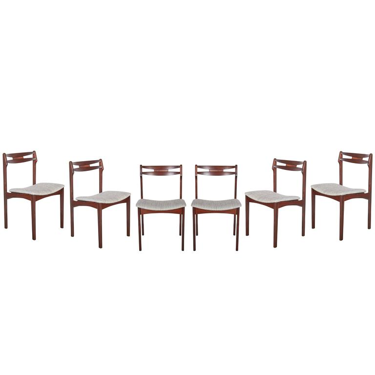 Mid Century Rosewood Dining Chairs, Set of 6 1