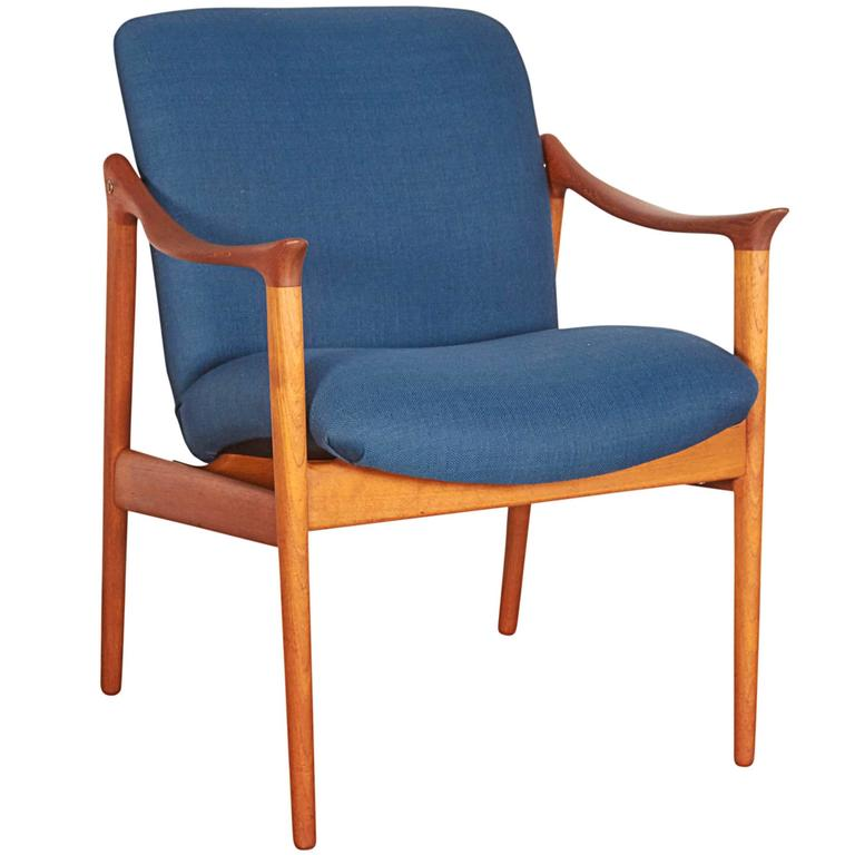 Mid Century Teak Arm Chair by Rastad & Relling 1