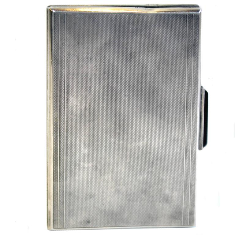 Sterling Silver Art Deco Cigarette Case or Wallet