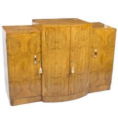 1920s Art Deco Cocktail Sideboard Cabinet Epstein